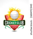 cricket banner background with... | Shutterstock .eps vector #268492340