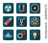 Постер, плакат: Science and physics icons
