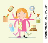 super mom icon  vector... | Shutterstock .eps vector #268497884
