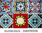 beautiful old wall ceramic... | Shutterstock . vector #268498508