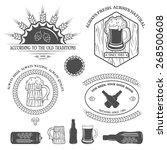 beer emblems  labels and design ... | Shutterstock .eps vector #268500608