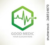 medical design logo template... | Shutterstock .eps vector #268514870