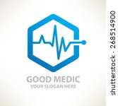medical design logo template... | Shutterstock .eps vector #268514900