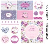 scrapbook design elements  ... | Shutterstock .eps vector #268515773