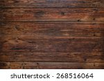 old rustic red wood background  ... | Shutterstock . vector #268516064