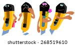 cartoon vector illustration... | Shutterstock .eps vector #268519610