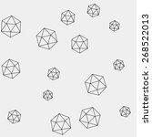 geometric simple monochrome... | Shutterstock .eps vector #268522013