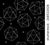 geometric seamless simple... | Shutterstock .eps vector #268522028