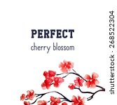 realistic sakura blossom  ... | Shutterstock .eps vector #268522304