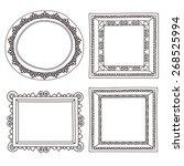 elegant ornate frames | Shutterstock .eps vector #268525994