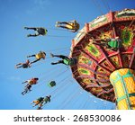 swing ride at fair spinning... | Shutterstock . vector #268530086