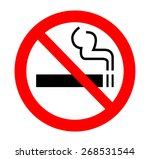 no smoking sign | Shutterstock .eps vector #268531544