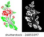 decorative roses | Shutterstock .eps vector #26853397
