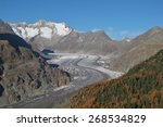autumn day at the aletsch... | Shutterstock . vector #268534829
