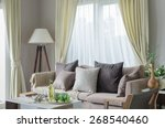 modern living room with sofa... | Shutterstock . vector #268540460