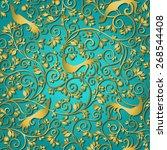 vintage stylized  seamless... | Shutterstock .eps vector #268544408