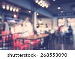 abstract blur restaurant... | Shutterstock . vector #268553090