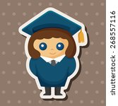 student cartoon theme elements | Shutterstock .eps vector #268557116