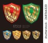 vector   gold metallic best...   Shutterstock .eps vector #268566320