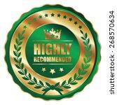 green gold metallic highly... | Shutterstock . vector #268570634