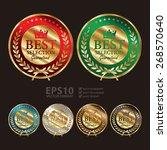 vector   gold metallic best... | Shutterstock .eps vector #268570640