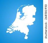 netherlands map | Shutterstock .eps vector #268581950