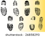 8 shoeprints   highly detailed... | Shutterstock .eps vector #26858293