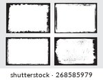 grunge frame set.distress... | Shutterstock .eps vector #268585979