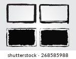 grunge frame set.distress... | Shutterstock .eps vector #268585988