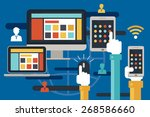 internet connection  online... | Shutterstock .eps vector #268586660