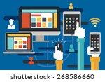 internet connection  online... | Shutterstock .eps vector #268586660