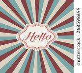 vintage design  retro template | Shutterstock .eps vector #268598699
