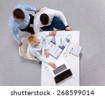 business people sitting and... | Shutterstock . vector #268599014