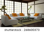 Interior In Japanese Style 3d...
