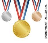gold  silver  bronze blank... | Shutterstock .eps vector #268605626