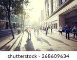 People In Bokeh  Street Of...