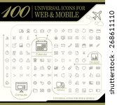 attractive 100 universal icons...