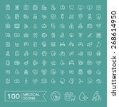 lovely 100 medical icons set...