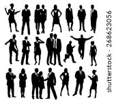business people silhouettes set | Shutterstock .eps vector #268623056