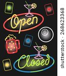 illustration of different neon... | Shutterstock .eps vector #268623368