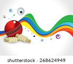 abstract colorful cricket wave... | Shutterstock .eps vector #268624949