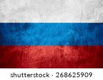 flag of russia or russian... | Shutterstock . vector #268625909
