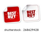 best buy stickers | Shutterstock .eps vector #268629428