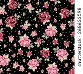romantic seamless floral... | Shutterstock .eps vector #268633598