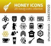 honey icons | Shutterstock .eps vector #268635020