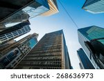 tall skyscrapers in downtown of ... | Shutterstock . vector #268636973