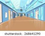 shopping center modern luxury... | Shutterstock .eps vector #268641290