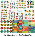 mega collection of flat web...   Shutterstock .eps vector #268644464
