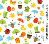 cute spring background  ... | Shutterstock .eps vector #268650578