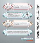 set of banners template with... | Shutterstock .eps vector #268660604